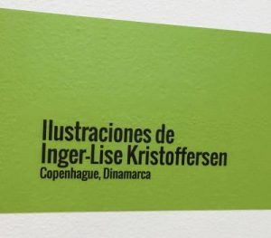 """EXHIBITION of 21 prints, from my graphic picture book """"MANDEN FLUEN OG DET USTYRLIGE PIGEBARN"""" at Colombo Americano, sede El Retiro, from the 16th to the 23rd of September."""